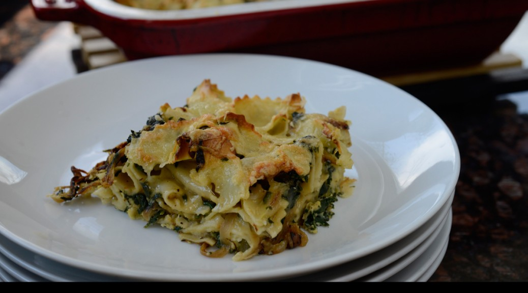 Pasta Gratin with Swiss Chard, Fontina, and Nutmeg [photograph: Dino De Angelis]