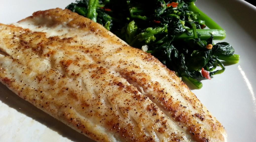 Crispy skin branzino with silky broccoli raab rustico for What is branzino fish
